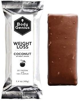 BODY GENIUS Weight Loss (Coconut). 40gx13 barritas. Altas en ...