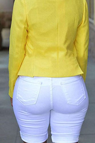 De Pantalons De En Longueur Femmes Pantalon Trou white Jeans Xxl En Dchir Demi Denim A0zqzgf