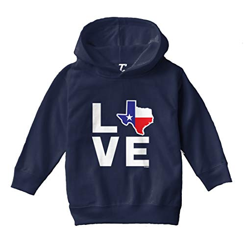 Love Texas - Texan Pride Strong Toddler/Youth Fleece Hoodie (Navy Blue, 4T (Toddler))