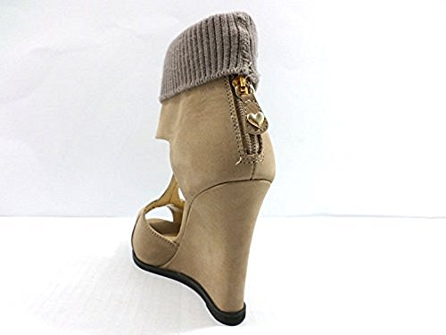 scarpe donna TWIN-SET 37 sandali pelle tessuto beige WH929