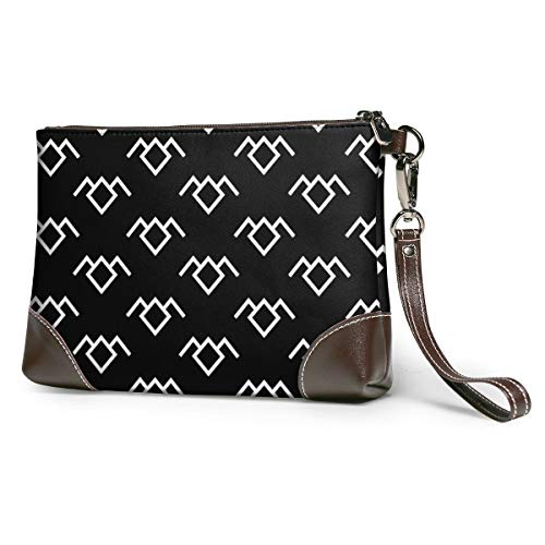 Twin Peaks Owl Leather Wristlet Clutch Bag Zipper Handbags Purses Phone Wallets With Strap Card Slots
