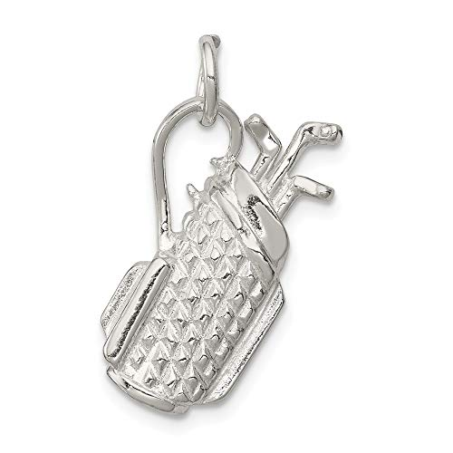 Mireval Sterling Silver Golf Bag Charm (approximately 22 x 13 ()