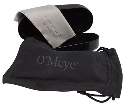 O'Meye Hard Clamshell eyeglass & Sunglasses Case - 3 Piece Set For Men & Women Case, Pouch, Premium-Lens Microfiber Cleaning Cloth, 100% Satisfaction - Eyeglasses Xxl
