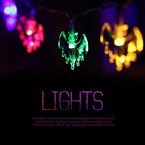 Cloverclover Funciona con pilas 10 LED Bat Fairy String Light Luz ...