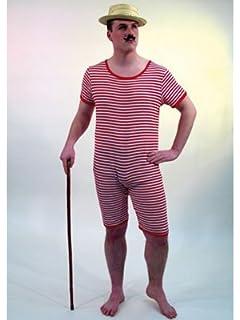 costume da bagno a righe rosso bianco