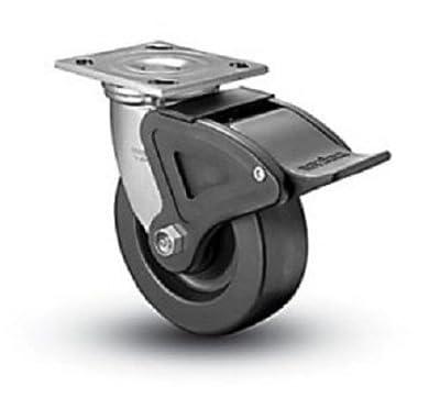 "Colson Swivel Plate Caster Heavy Duty Phenolic 5"" x 2"" Wheel & Total Lock Brake"