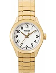 Timex Womens T2M452 T Series Gold-Tone Expansion Band Watch
