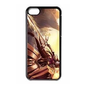 iPhone 5c Cell Phone Case Black Leona League of Legends2 Tufw