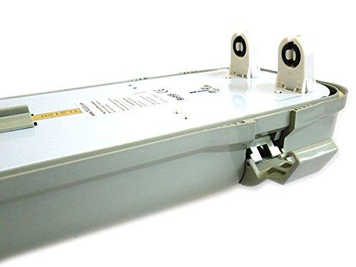 Plafoniera Stagna Led 120 Cm : Plafoniera stagna doppio tubo led t cm neon a