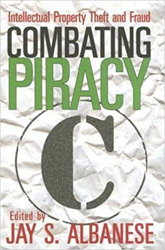 Combating Piracy: Intellectual Property Theft and Fraud ...