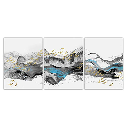 Wall Art Picture Canvas Painting Calligraphy Prints Mountain Home Corridor Decor Wall Art Modular Scenery Bird Pictures Abstract Poster,38X50Cm Framed,Cracker