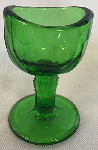 Eye Wash Cup Rinse - John Bull Style (Green) - USA Glass