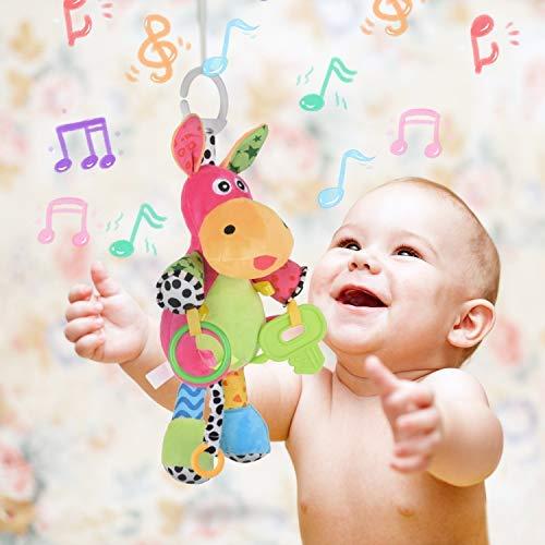 Kinderwagen Spielzeug Hochwertiges H/äschen Pl/üschtier Kleinkindspielzeug,Beste Geburtstags Neugeborene,ab 0 Monat Rolimate Baby Spielzeug