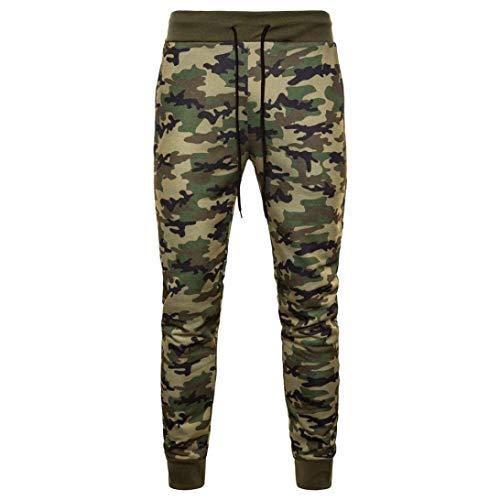 Sportivi Codice Camouflage Uomo Autunno Da Lungo Primaverile Casual Pantaloni Verde Completo Moda Traspiranti Alla W8Zn5x