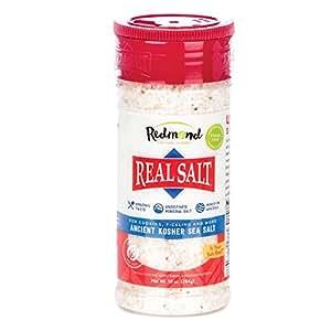 Redmond Real Sea Salt - Natural Unrefined Organic Gluten Free Kosher, 10 Ounce Shaker