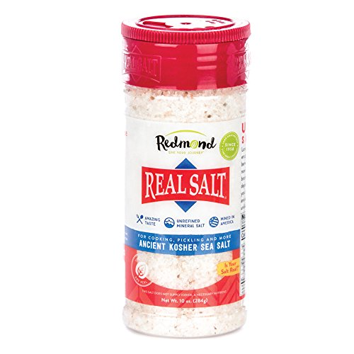 Redmond Real Sea Salt - Natural Unrefined Organic Gluten Free Kosher, 10 Ounce Shaker
