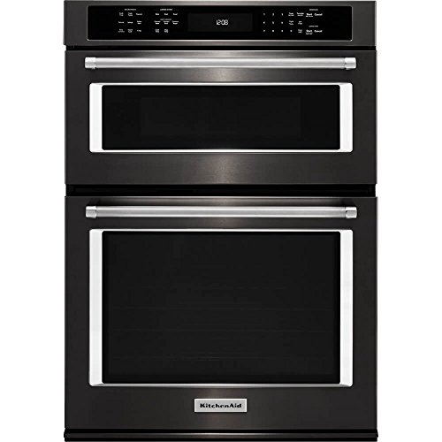 Price comparison product image Kitchen Aid KOCE500EBS KOCE500EBS 30 Black Stainless Convection Wall Oven / Microwave Combination