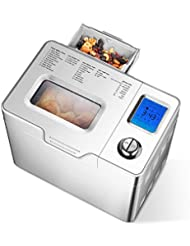 Aicok 2LB Custom Loaf Bread Maker, 25-In-1 Automatic Programmable Bread Machine, Large LCD Display, Fruit & Nut Dispenser
