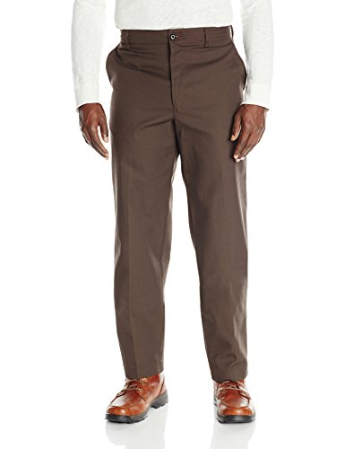 (Red Kap Men's Stain Resistant, Flat Front Work Pants, Brown 44W x 32L)