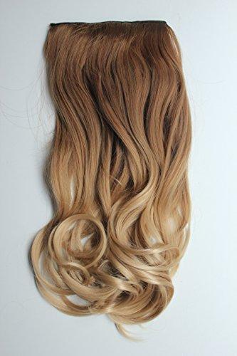 Devalook Haarverlängerung/Extensions für den gesamten Kopf, mit Clipbefestigung, gewellt, Ombré-Färbung, 43,2cm