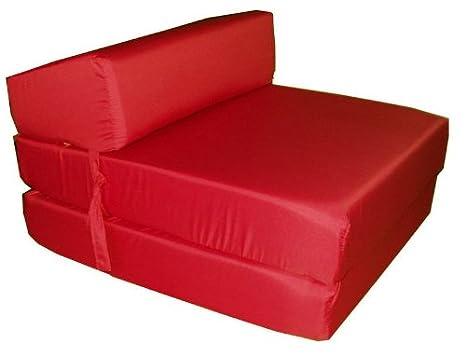 Poltrona Letto Futon : Red sit n sleep sedersi e sonno in spugna poltrona letto futon