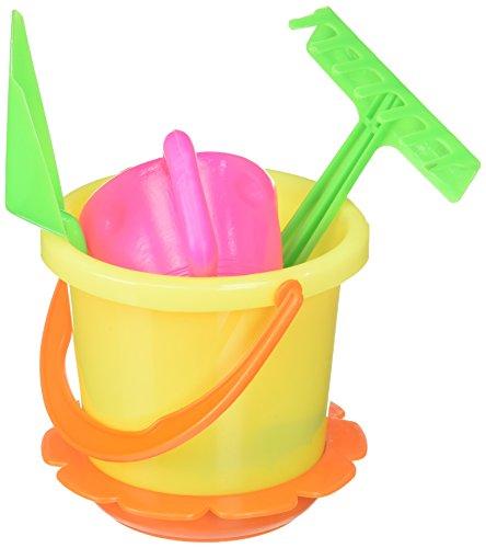 McToy Educational Products - 6 Piece Sandbox Beach Set - Bucket, Shovel & more. [Toy] - Sandbox Beach set includes 6 pieces