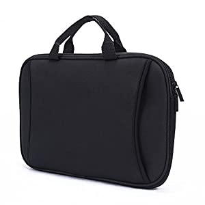 "7-8 inch Sleeve, Slim Neoprene Zipper Carrying Sleeve Case with Accessory Pocket for 7"" 7.85"" 7.9"" 8"" Tablet Notebook Nextbook Laptop (Black)"