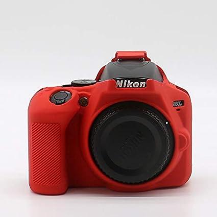 HellowPower - Carcasa para cámara Nikon D3500 (Silicona), Color ...