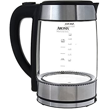 Aroma Housewares Awk-165M 1.7 L Electric Water Kettle, Stainless Steel