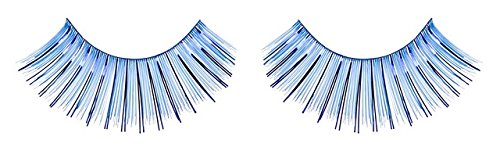 Zinkcolor Blue Foil False Eyelashes C007 Dance Halloween Costume