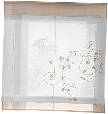 Rinalay Panel De Cortina De La Ventana De Flores Voile Cortinas 4 Vida de Moda # 1 Gris 60X120Cm Ventana Película Casa De Campo Vintage Art Nouveau Ornamento: Amazon.es: Hogar