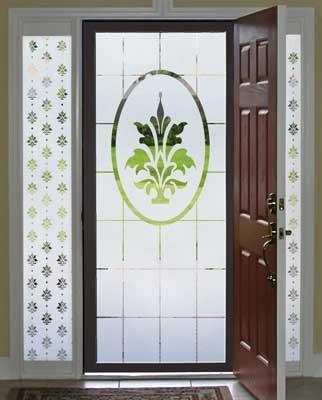Doral Etched Glass Decorative Window Film 32