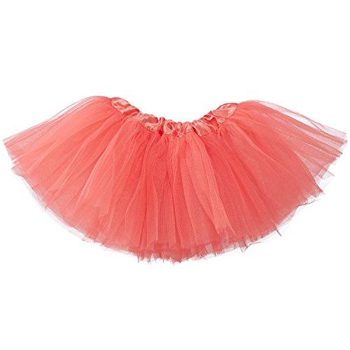 My Lello Baby 5-Layer Ballerina Tulle Tutu Coral (0-3 mo.)