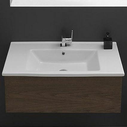 Cerastyle 001900 U One Hole Arda Corner Ceramic Self Rimming Wall Mounted Bathroom Sink White Nayancorporation Com