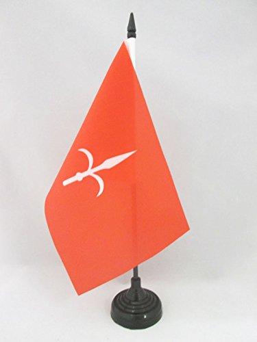 - AZ FLAG Free Territory of Trieste 1947-1954 Table Flag 5'' x 8'' - Territorio Libero di Trieste Desk Flag 21 x 14 cm - Black Plastic Stick and Base