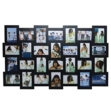 invotis black 28 picture multi frame h63cm x w105cm photo size 10cm x 15cm