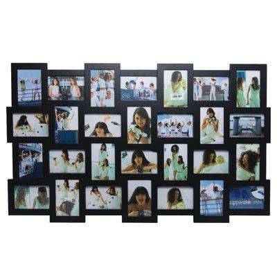 Invotis Black 28 Picture Multi Frame H63cm X W105cm Photo Size 10cm X 15cm 4 X 6