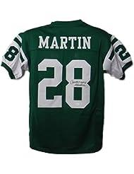 Curtis Martin Autographed New York Jets Size XL Green Jersey HOF JSA
