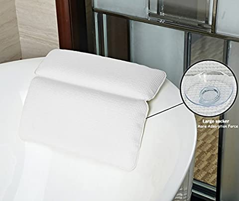 Bathtub Pillow, Halovie Bathtub Pillow with Strong Large Suction Cups