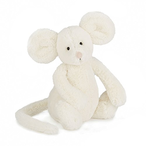 Jellycat Bashful Cream Mouse, Medium,