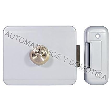 Cerradura electrica puerta batiente automática, electrocerradura bobina 12v Remocon RMS90 puerta garaje batiente automatica o