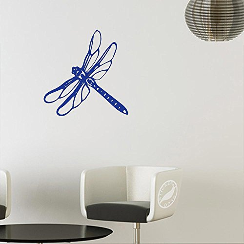 (Dragonfly Decal Sticker (Matte Blue, 5 inch))