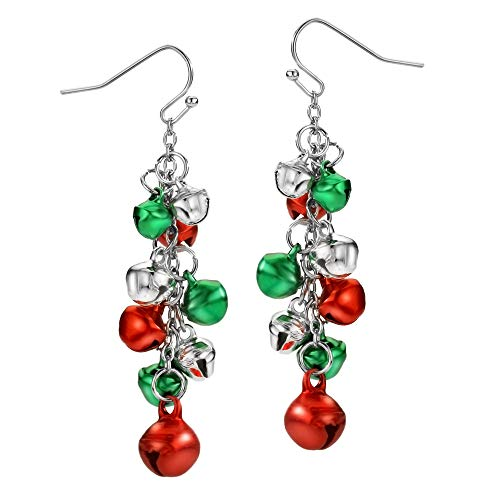 Christmas Earrings for Women Holiday Earrings with Jingle Bell Drop Dangle Earring Party Jewelry Festival Decoration