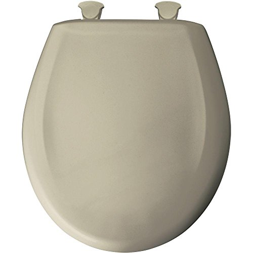 Bemis 200SLOWT 046 Lift-Off Plastic Round Slow-Close Toilet Seat, Parchment