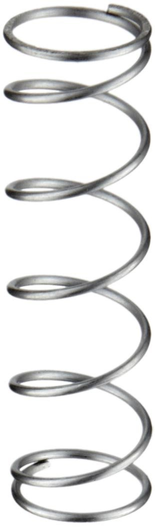 316 Stainless Steel Compression Spring Inch 0.36 OD 0.371 Compressed Length 6.2 lbs//in Spring Rate 1.53 lbs Load Capacity 0.62 Free Length Pack of 10 0.026 Wire Size