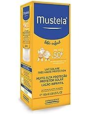 Mustela Solares Protetor Solar Infantil Loção Rosto e Corpo FPS 50+, 100 ml