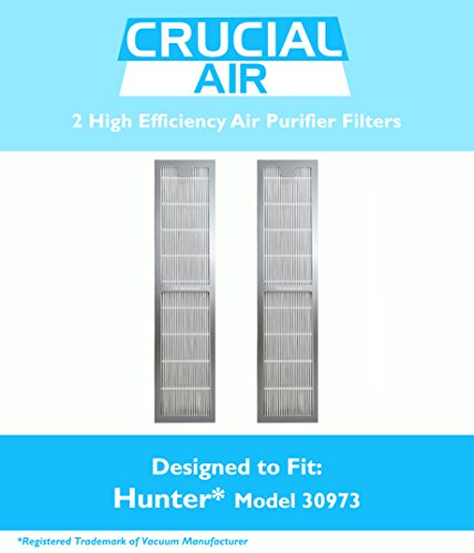 2 Hunter 30973 Air Purifier Filters Fit 30890 & 30895 Models, Designed & Engineered by Crucial Air