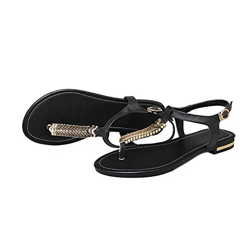 EKS - Sandalias de vestir de Piel para mujer Schwarz-Leder