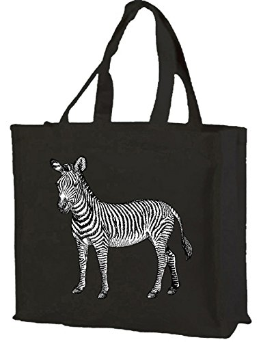 black Shopping with Cotton gusset Zebra Bag cols of choice vqgW8a