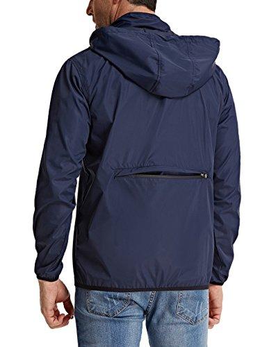 - PJ PAUL JONES Mens Lightweight Portable Hooded Rain Jacket for Outdoor Travel Activity(S,Navy)